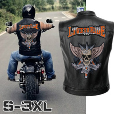 motorcyclejacket, Vest, leathervestformen, Embroidery