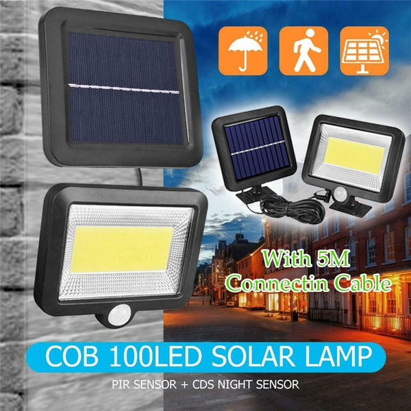 Solar Cable Light Split Solar Light With Solar Panel Home Courtyard Garden Lamp