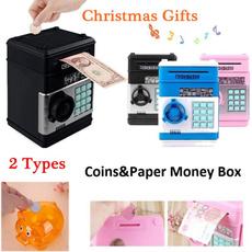Box, electronicpiggybank, moneybox, moneyboxesforkid