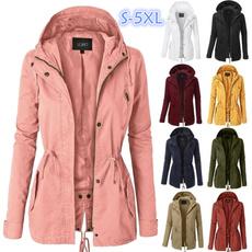 Casual Jackets, Plus Size, hoodedjacket, Long Sleeve