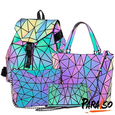 rainbow, Holographic, Bags, fannypack