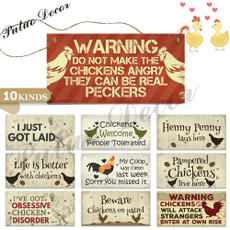 chickendecor, Home Decor, Gifts, woodensign