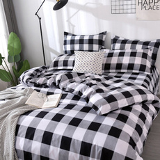 beddingkingsize, King, plaid, bedsheetset