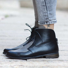ankle boots, Plus Size, Leather Boots, leather