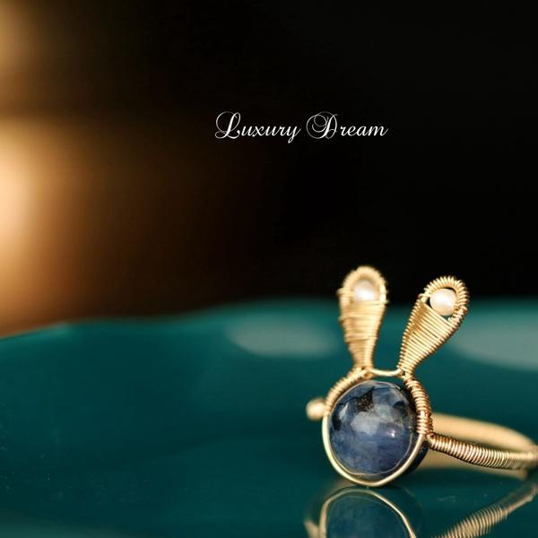Blues, Design, crystal ring, rabbitring