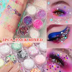 decoration, Holographic, Star, Eye Makeup