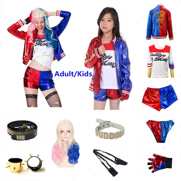Suicide Squad Harley Quinn Cosplay Accessory Two Glove Set
