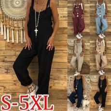 Cotton, Plus Size, wideleg, pants