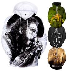 3D hoodies, Fashion, postmalonehoodie, Sleeve