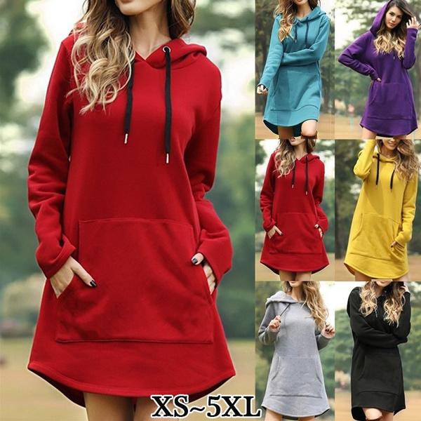 dressforwomen, hooded, Hoodies, Dresses