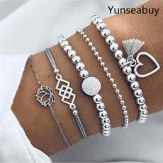 Fashion, Anklets, boho, multi-layer bracelet