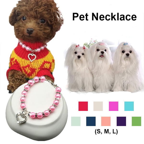 Pet Collar Multi Color Fashion Chihuahua Poodle Dog Cat Pearl Jewelry Collar Necklace