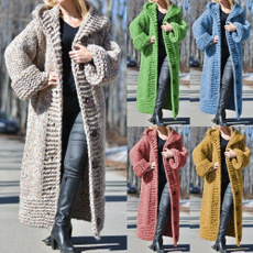 Winter Coat Women, knitted sweater, Long Sleeve, knitsweatercoat