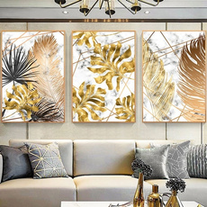 golden, Decor, Wall Art, Home Decor