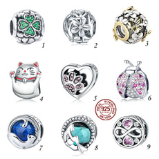 Sterling, Heart, charms for pandora bracelets, Love