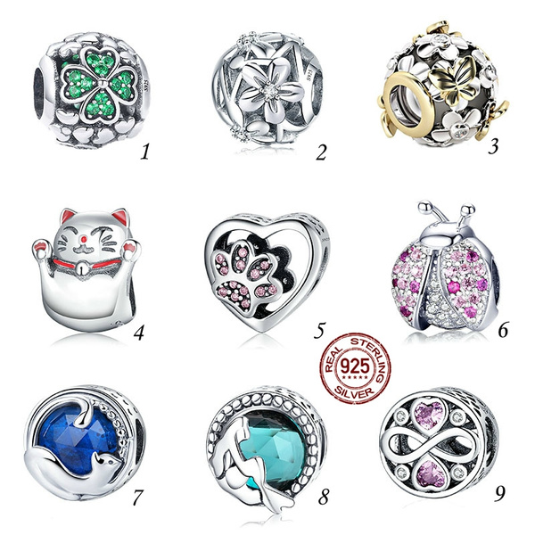 Sterling, Heart, charms for pandora bracelets, Love
