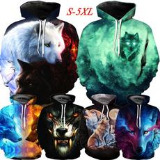 3D hoodies, pullover hoodie, unisex, Casual sweater