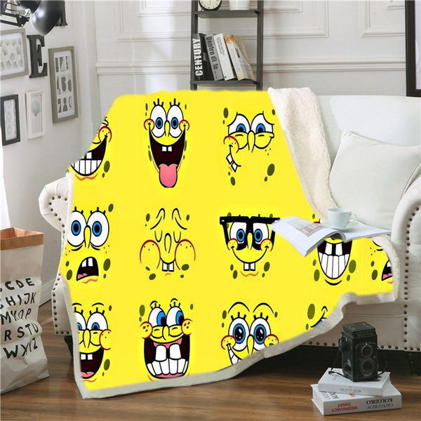 Customize Picture 3D Print Sherpa Blanket Sofa Couch Quilt Cover throw blanket