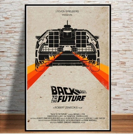 Canvas BACK TO THE FUTURE SPIELBERG MOVIE 4 Art Print Poster
