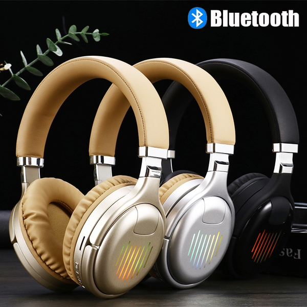 True Wireless Headphones 3d Stereo Bluetooth Headset Foldable Gaming Earphone With Mic Fm Tf Card Noise Reduction Headphones Wish