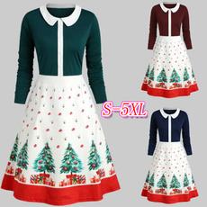 slim dress, printeddres, Sweet Dress, plus size dress