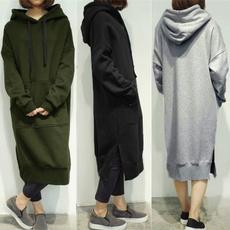 sweatshirt dress, Plus Size, Sleeve, Long Sleeve