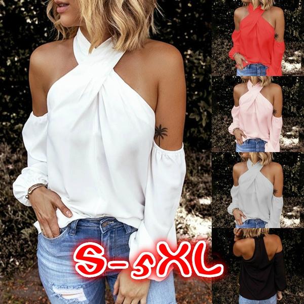blouse, Plus Size, Cotton T Shirt, Halter