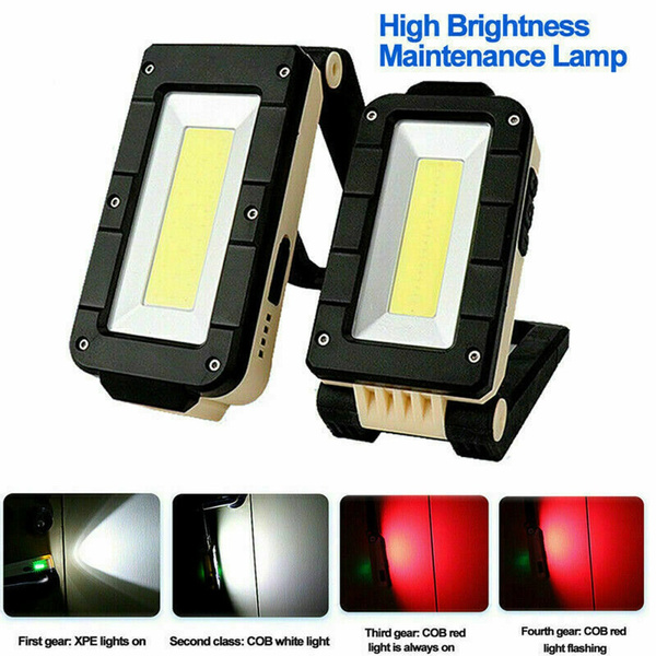 Multifunction COB Rechargeable Magnetic Outdoor Inspection Lamp Working Light