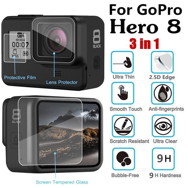 gopro8screenprotector, gopro8film, gopro8cover, temperedgla