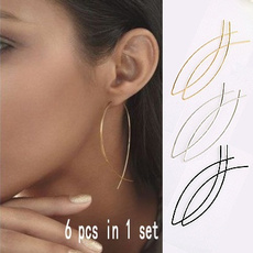 fashionsimpleearring, Copper, Jewelry, shaped