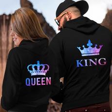 Couple Hoodies, King, Casual Hoodie, queenandking
