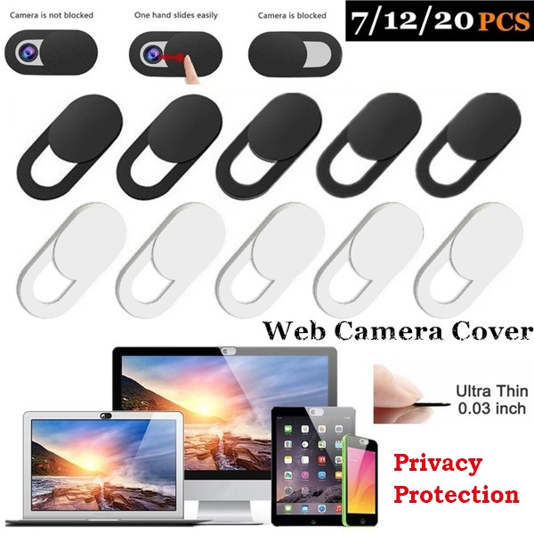 Webcam Cover 0.03 Inch Slider Camera Shield Privacy Sticker For Laptop Phone