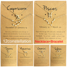 constellationnecklace, necklaceampbracelet, zodiacjewelry, Collar