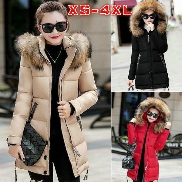 Slim Warm Hooded Chaqueta Coat Manteau Winter Jacket Down Long Parka Abrigo Padded Ladies Fashion 2019 Womens Mujer Femme mn80yvwON