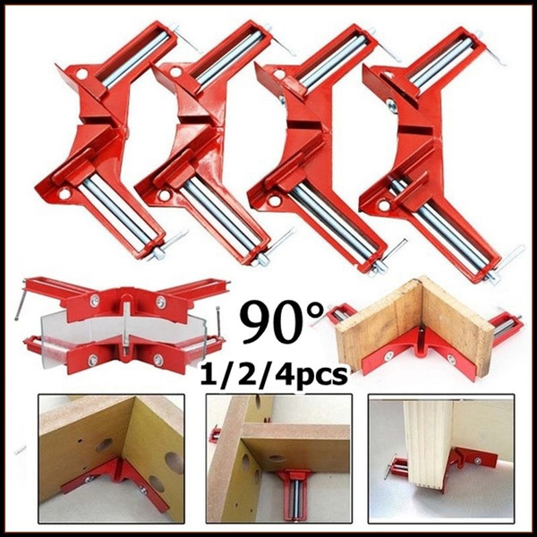 100mm 4Inch Corner Clamps Mitre Clamp Picture Framing Right Angled Red