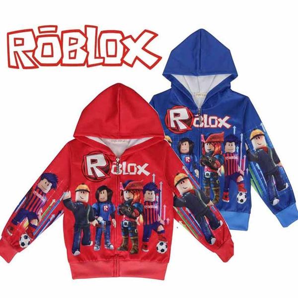 Kids Cartoon Hoodies Game Roblox 3d Printing Hooded Cardigan Coat