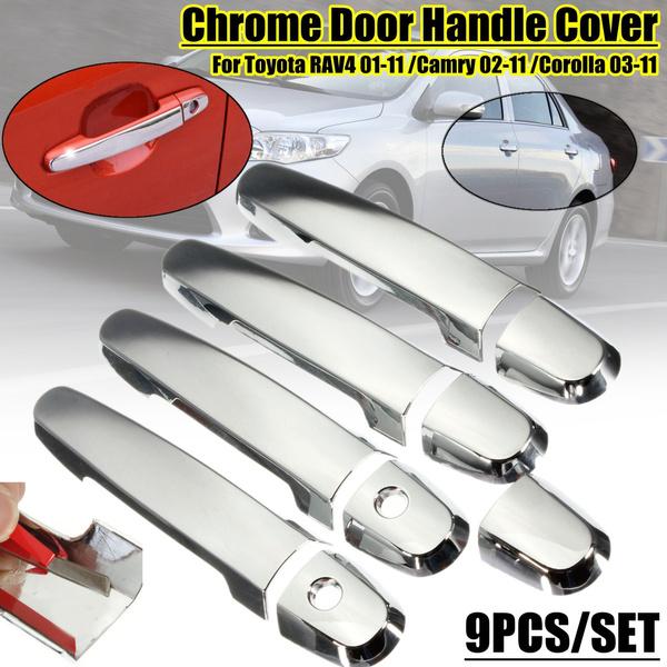Chrome Door Handle covers For Toyota RAV4 Prius Camry Yaris Corolla 2003-2011
