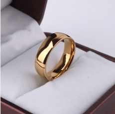 goldplated, Jewelry, Engagement Ring, Stainless Steel