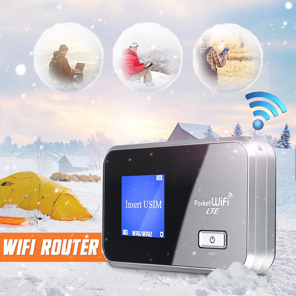 Portable LTE 4G  Wifi Wireless Router Mobile Hotspot SIM Card Unlocked 3560mAh