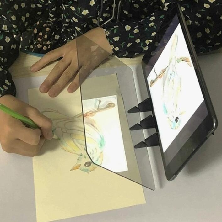 2019 New Painting Copying Drawing Board for Beginners Kids,Painting Copy Projector Reflective Sheet,Easy to Paint Sketch Assistant Painting Stand Drawing Tools