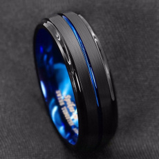 Blues, ringsformen, tungstenring, Fashion