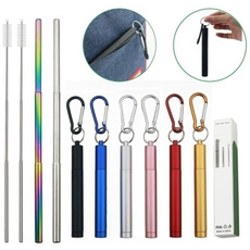 Steel, rainbow, Key Chain, portablestraw