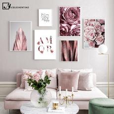 Decoración, Moda, art, Rosa