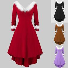 Plus Size, Christmas, Sleeve, christmasdre