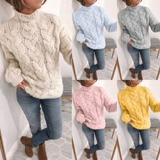 crewneck sweater, knitwear, Plus Size, Winter