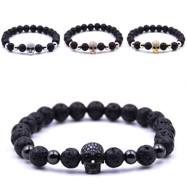 Men, Jewelry, skull, Fashion Bracelet