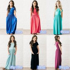 kidsdre, girls dress, cute, long dress