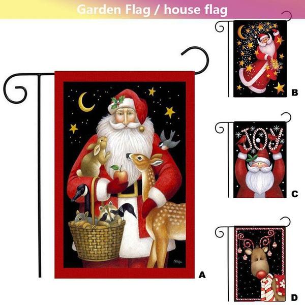 Merry Christmas Garden Flag Kit Double