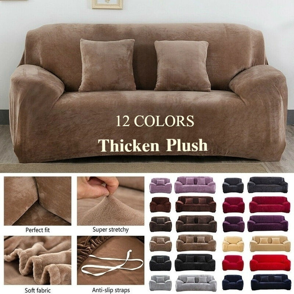Thick Plush Recliner Sofa Covers Retro Recliner Sofa Cover Soft