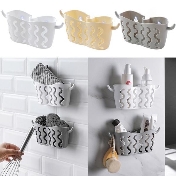 Double Sink Caddy Saddle Style Kitchen Wall Organizer Storage Sponge Holder  Rack Tool